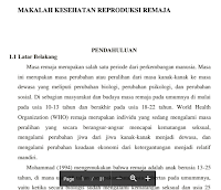 Contoh Artikel Makalah Tentang Pengetahuan Pendidikan Kesehatan Reproduksi Remaja Pdf Download