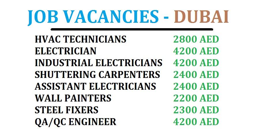 DUBAI JOB VACANCIES - LATEST - DUBAI JOB WALKINS