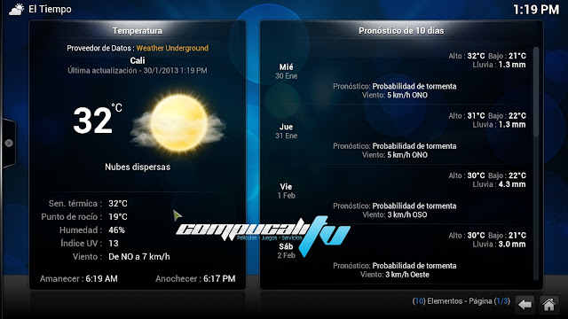 XBMC Media Center Versión 13.1 Español