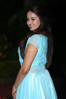 Pujita Ponnada in transparent sky blue dress at Darshakudu pre release ~  Exclusive Celebrities Galleries 085.JPG