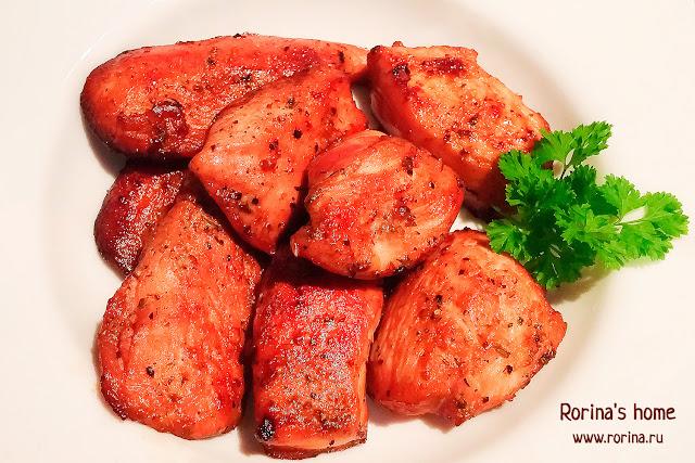 Курица в пикантном медово-соевом маринаде в духовке