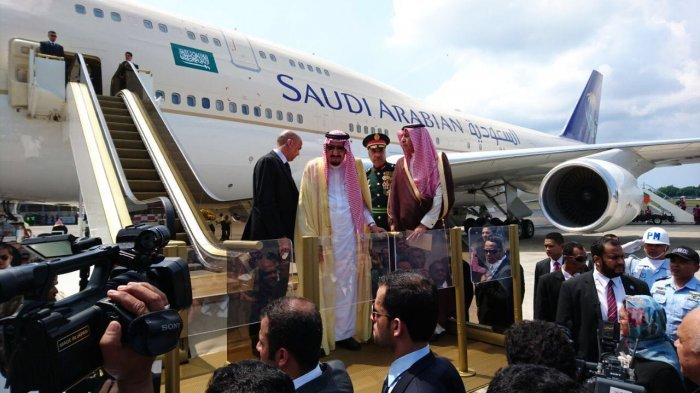 Raja Salman bertolak dari Bali menuju Jepang, 13 Maret 2017 (Tribunnews)