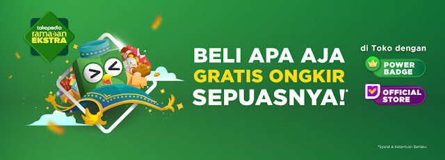 #Tokopedia - #Promo Voucher Beli Apa Saja GRATIS ONGKIR (s.d 16 Mei 2019)
