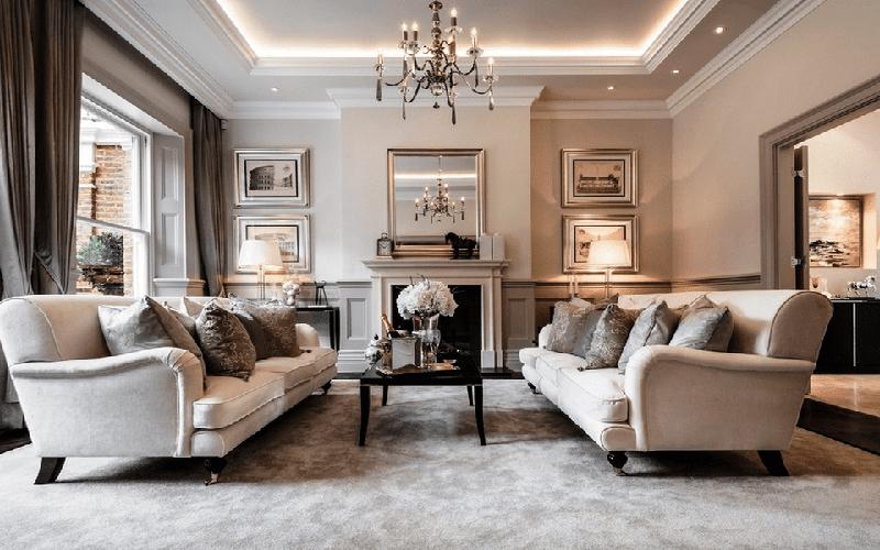 Phòng khách cổ điển biểu tượng của sự sang trọng và đẳng cấp 4