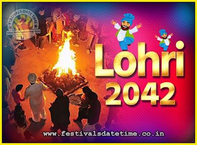 2042 Lohri Festival Date & Time, 2042 Lohri Calendar