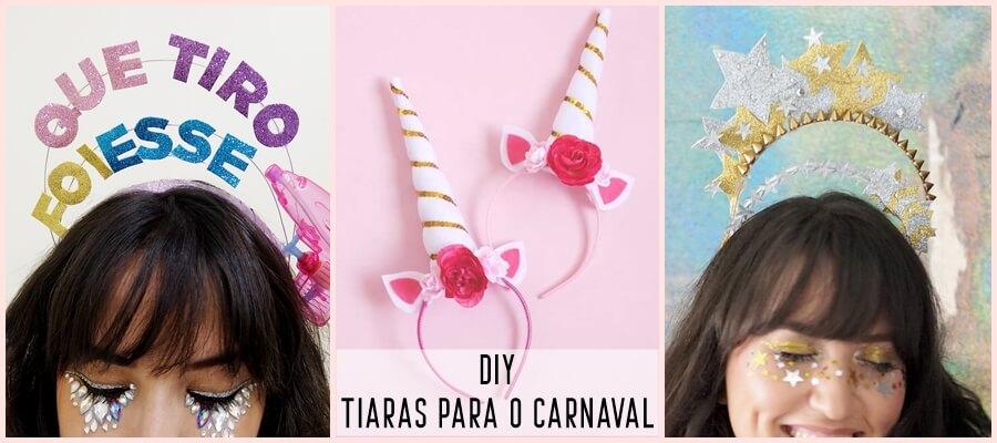 tiara para o carnaval
