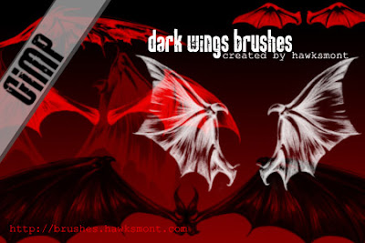Gimp Brushes Dark Wings