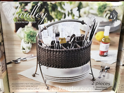 Organize your utensils when eating al fresco with the Mesa Woven Picnic Caddy
