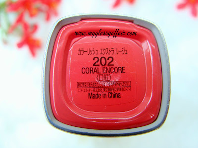 L'Oreal Colour Riche L' Extraordinaire Liquid Lipstick in 'Coral Encore' - Review, Swatches and FOTD