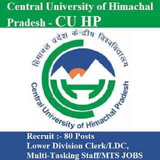 Central University of Himachal Pradesh, CU HP, freejobalert, Sarkari Naukri, CU HP Answer Key, Answer Key, cuhp logo