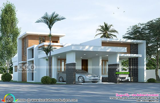 1790 square feet 3 bedroom Modern house plan