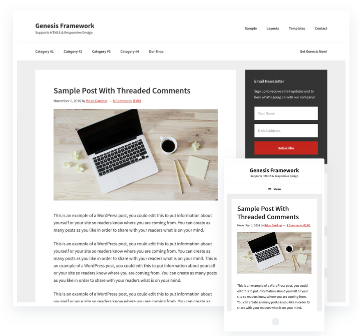 Genesis framework best seo optimized theme