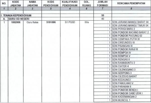 Lowongan CPNS Tangerang Selatan