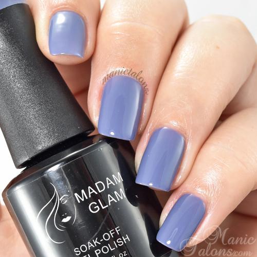 Madam Glam Gel Polish Dark Orchid Swatch