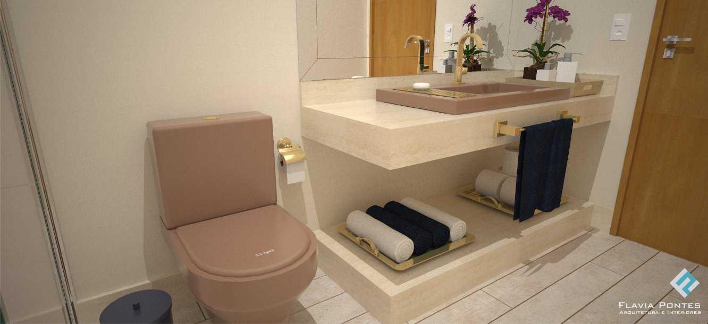 Flavia Pontes Arquitetura -> Cuba Banheiro Retangular