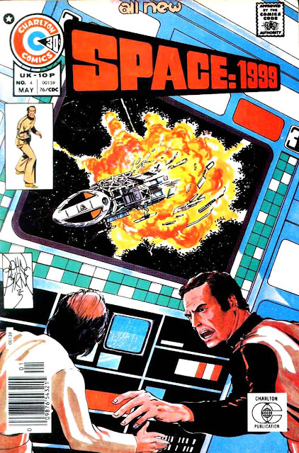 Space 1999 v1 #4 chalrton bronze age comic book cover art by John Byrne