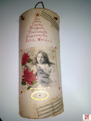 teja pintada a mano y con decoupage