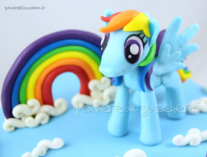 my little pony rainbow dash polvere di zucchero