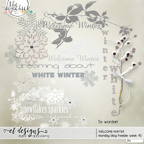 Monday blog freebie week 45 Welcome Winter