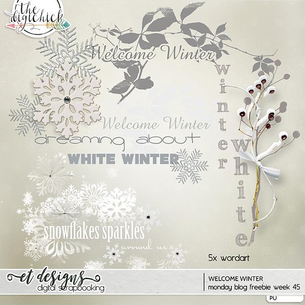 Monday blog freebie week 45 Welcome Winter