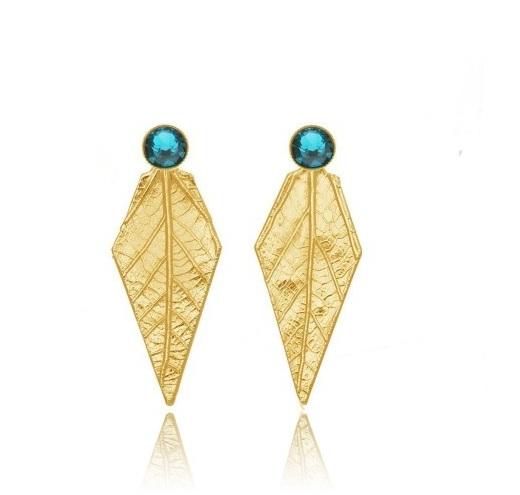 Thallo - bijuterii grecesti din frunze naturale cercei