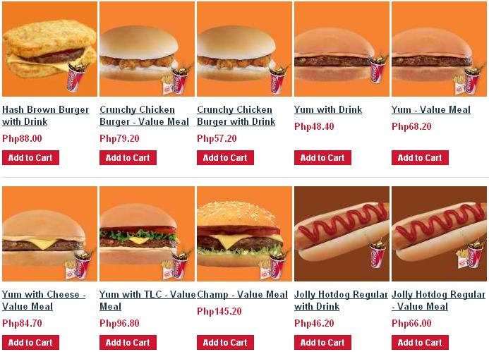 The Pinoy Informer Jollibee Delivery Menu