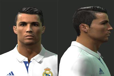 Ultigamerz PES Cristiano Ronaldo New Face - New face hair cristiano ronaldo pes 2013