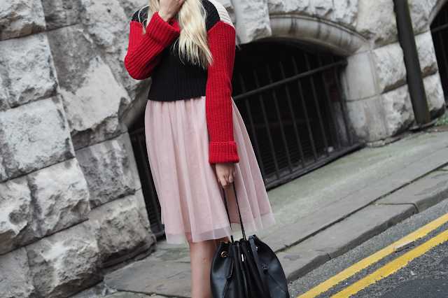 colour block jumper trend fashion blog