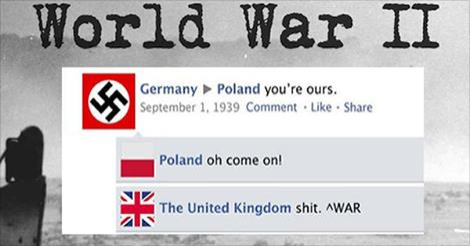 This Is What Would Happen If Countries Had Facebook During World War II