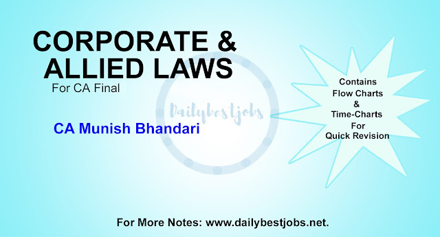 CA Final Corporate & Allied Laws By Munish Bhandari Law Book PDF Free Download