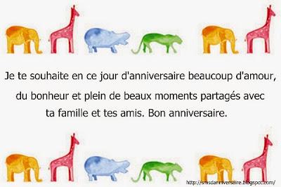 Sms d'anniversaire amie en français