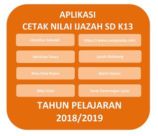 download aplikasi cetak ijazah sd k13 tahun 2019/2020