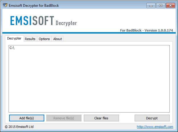 BadBlock: Emsisoft Decrypter