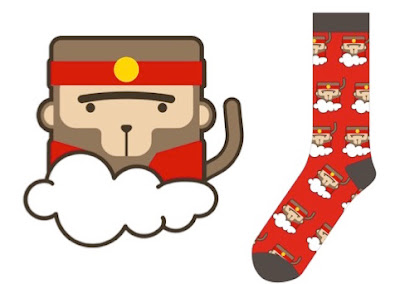 Designing socks - our Lucky Monkey gifts