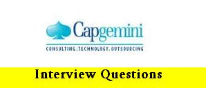 Capgemini Technical Interview Questions for Freshers