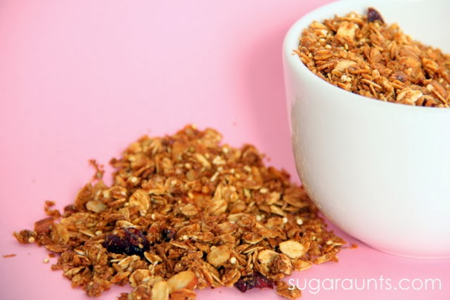 Granola is the best healthy snack for kids.