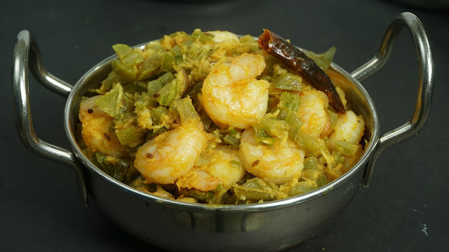Snake-Gourd-and-Prawns-Stir-Fry-recipe