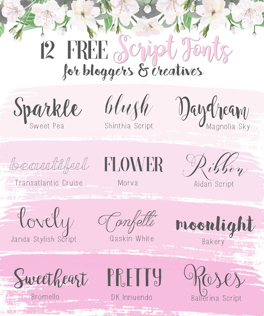Love, Catherine | My Favourite Free Script Fonts For Blogging