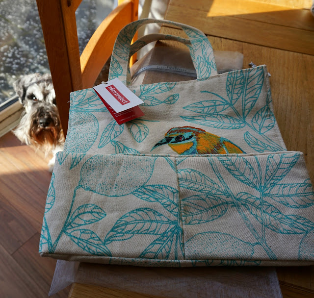 Ulster Weavers (Eden Project collection) tote bag and Toby - Carrie Gault 2018