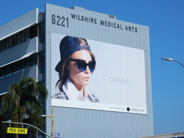 Giant Chanel sunglass hut SS16 billboard
