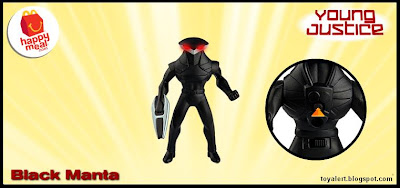 McDonalds Young Justice and Littlest Pet Shop happy meal toy promotion 2011 - Black Manta