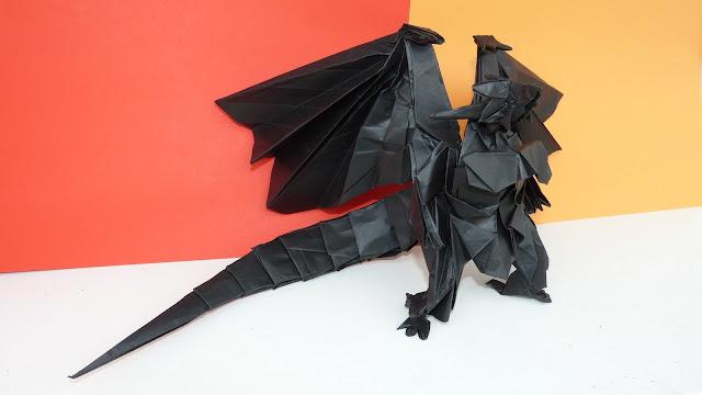 bahamut smok origami