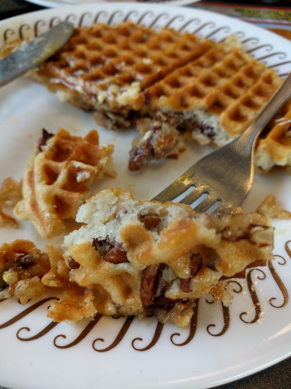Pecan Waffle At The Waffle House In Columbia, Missouri
