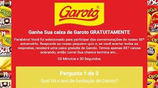 Promoção da Garoto Whatsapp