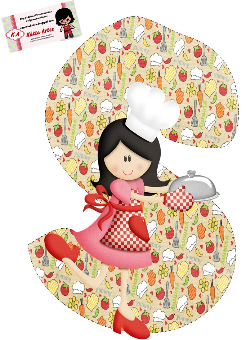 alfabeto cocinera feliz