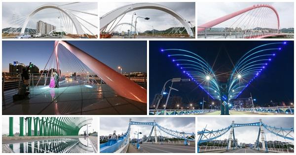台中北屯|新桃花源橋|浪漫情人橋|大坑清新橋(蝴蝶橋)|藍天白雲橋|日夜都漂亮的景觀橋