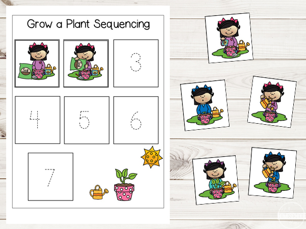 kindergarten worksheets and games free grow a plant sequencing worksheets. Black Bedroom Furniture Sets. Home Design Ideas