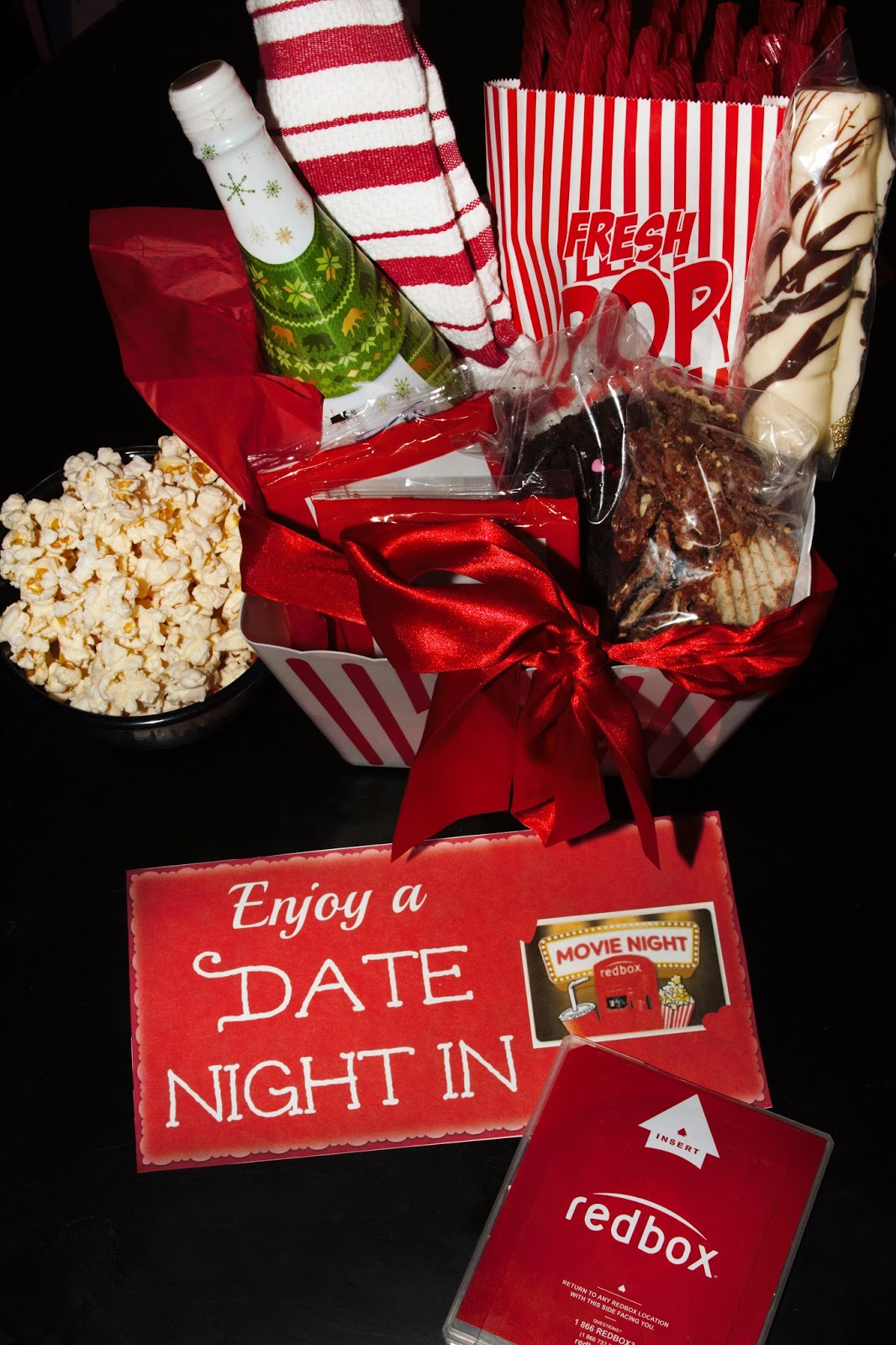 For the love of food diy date night in gift basket with