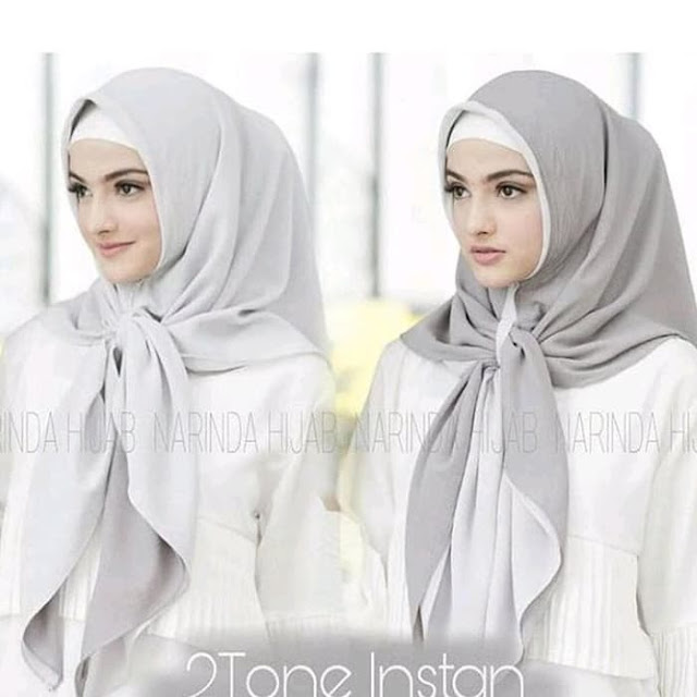 Jilbab Instan 2 Layer 2 Warna Cantik Terbaru Modis Warna Abu Abu