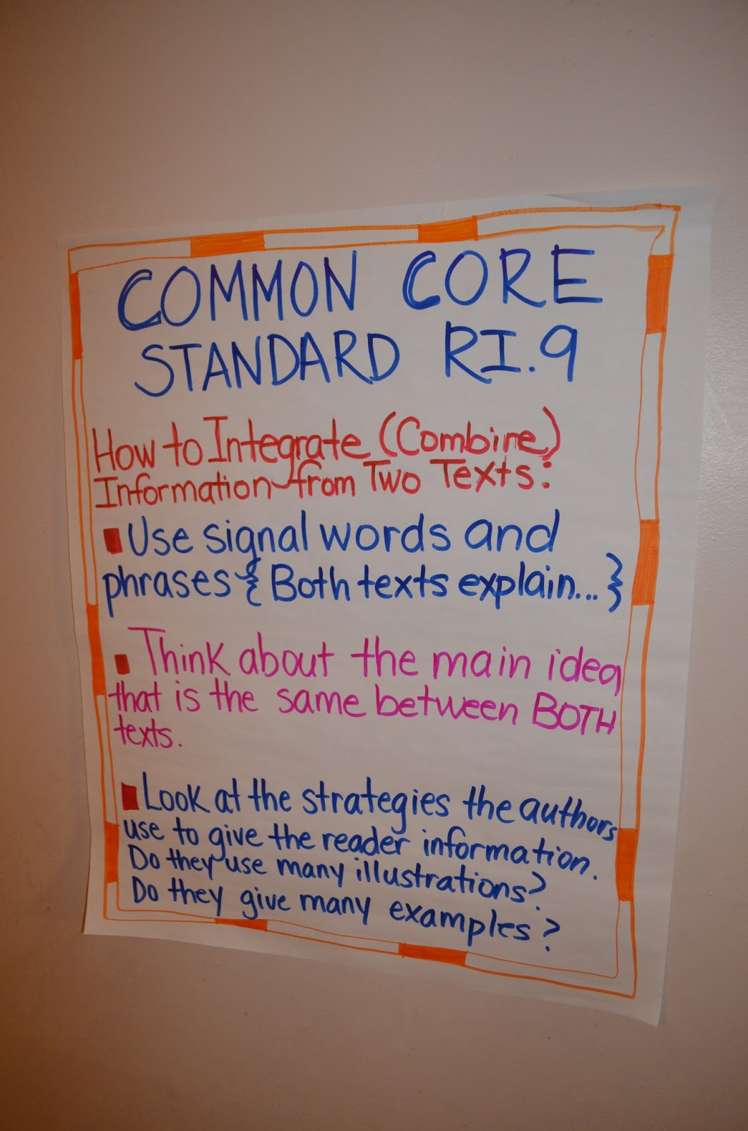 Simply Centers Common Core ELA Strategy Charts